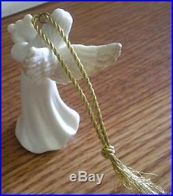 Set of 5 Mikasa Angel Ornaments White Porcelain Christmas Tree Holiday Decor