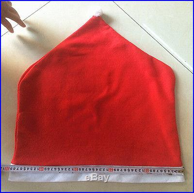 Set Of 6 Santa Clause Red Hat Chair Back Covers For