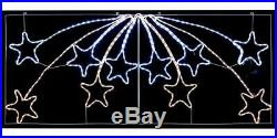 Shooting Stars Rope Light With 480 White & Warm Leds Xmas In/outdoor Decoration