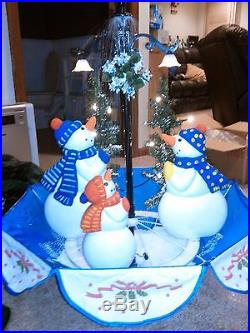 Singing Snowman Snoing Christmas Tree Decoration with LED Lights Decor 66 5.5