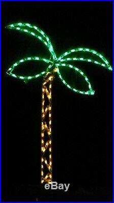 Small Beach Palm Tree Holiday Outdoor LED Lighted Decoration Steel Wireframe