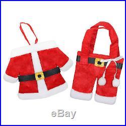Small Mini Santa Coat / Jacket & Pants Novelty Gift Bag Stockings