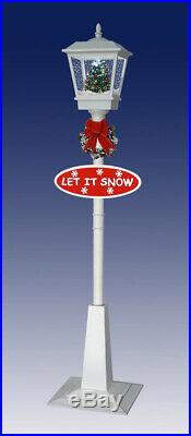 Snowing Christmas Lantern Lamp-Post White / Christmas Carousel