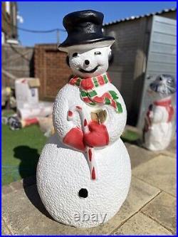 Snowman Blowmold Christmas Light With Harness
