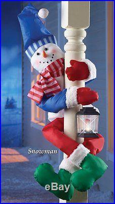 Snowman Decoration Christmas Fence Tree Hugger Holiday ...