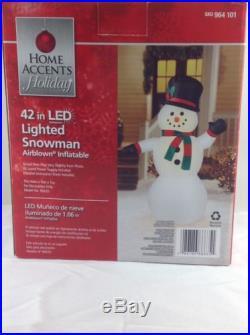 Snowman Inflatable NIB 42 LED Lights Airblown NIB Christmas Home Accent Holiday