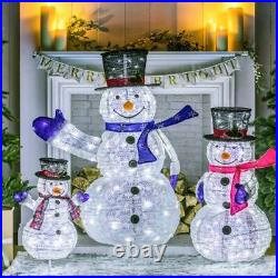 Snowman LED Pop Up Collapsible Christmas Figure Character Decoration