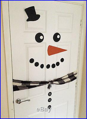 Snowman Vinyl Door Decals // Christmas Door Decal // Xmas Decoration //