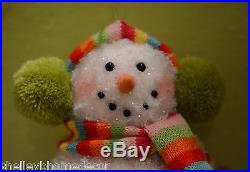 Snowman candy color Christmas Ornament 6 in set of 2 sp 3416158 NEW RAZ