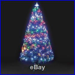 Snowtime Fibre Optic Galaxy 240 LED Christmas Tree Multi 180cm/1.8m/6ft