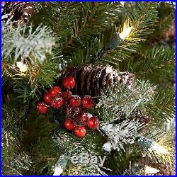 Snowy Dunhill Slim Pre Lit Christmas Tree