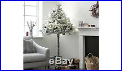 Special Half Christmas Tree Home 6ft Snowy Cat Friendly White and Green