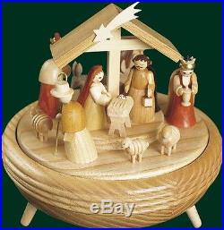 Spieluhr Spieldose Christi Geburt 18er Spielwerk Seiffen Erzgebirge NEU 08701