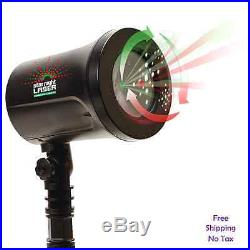 Star Night 3D Holographic Laser Christmas Outdoor Decor Red/Green Dancing Lights