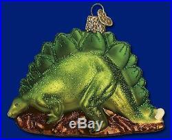 Stegosaurus Dinosaur Glass Merck Old World Christmas Ornament 12377 FREE BOX New