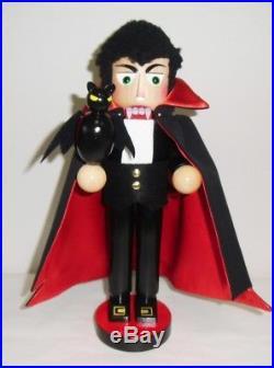 Steinbach Dracula Vampire with Bat German Wood Halloween Nutcracker Germany