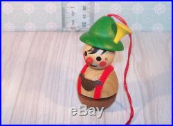 Steinbach Swiss Yodeler Wooden Christmas Ornament Germany Miniature Dollhouse
