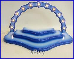 Sternenwolke f. Engel, blau, 3Etg, elekt. 37/With20 Orig. Handwerkskunst Erzgebirge
