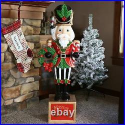Sunnydaze Karl the Christmas Nutcracker Indoor/Outdoor Statue 48-Inch