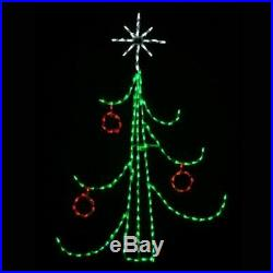 Swag Style Christmas Tree Outdoor Holiday LED Lighted Decoration Steel Wireframe
