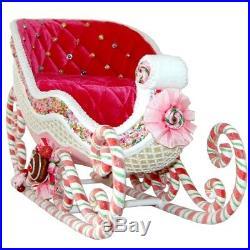 Sweet Sleigh, Candy Schlitten 38cm Katherine's Collection Weihnachtsschmuck