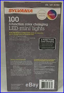 Sylvania Christmas Lights 3 Function Color Changing Warm