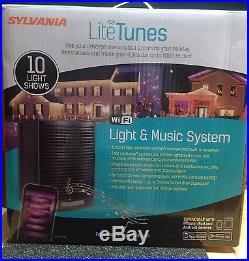 Sylvania Litetunes WIFI Synch Music System V45000 Christmas Holiday Lights