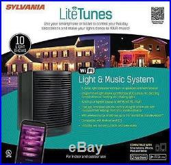 Sylvania Litetunes WiFi Light & Music System, Black NEW IN BOX