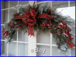 TARTAN HOLIDAY 42 Vintage Christmas Holiday Winter Swag Decoration