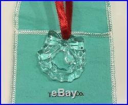TIFFANY & CO Crystal Wreath Holiday Tiffany Christmas Tree Ornament