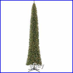 Tall Slim Christmas Tree Clear Lights Holiday Xmas Decorations 12 Ft Ornaments
