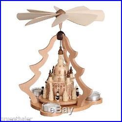 Teelicht-Pyramide Frauenkirche Dresden mit Kurrende Erzgebirge Zeidler Seiffen