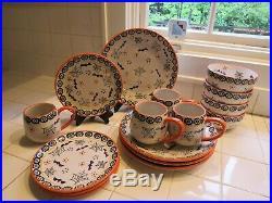 Temp tations Boofetti 16 piece 4 10.5 plates 4 8 plates 4 cups 4 bowls set NIB