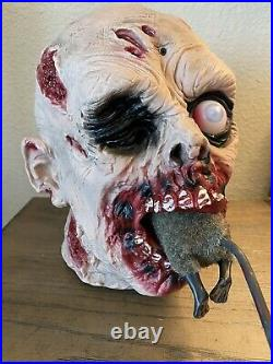 Tesco Hungry Zombie Eating Rat Halloween Prop Lights up Animated Scary Realistic