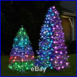 The 3D Floating Effect Light Show Fiber optic and LED Christmas Tree (7 ft.)