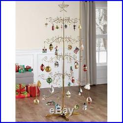 The 6′ Rotating Ornament Display Christmas Tree Rotates