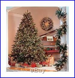 The Christmas Workshop 200 LED Pre Lit Frosted Berry Christmas Tree Warm Wh