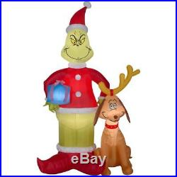 The Grinch That Stole Christmas 8′ Tl, Light Up Airblown Yard Inflatable W Max