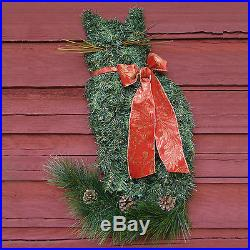 The ORIGINAL Artificial Pine Cat Wreath Christmas Kitty Crazy Cat Lady Lover