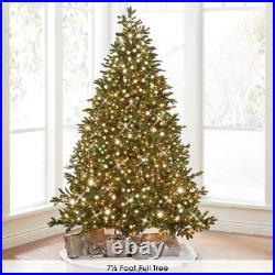 The World's Best Prelit LED Lights Noble Fir Christmas Tree (7.5′ Full) MULTI