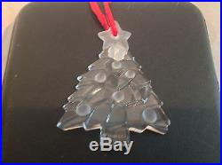 Tiffany & Co. 3 1/2 Crystal Christmas Tree Ornament NEW