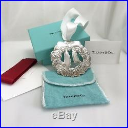 Tiffany & Co Sterling Silver Holiday Christmas Tree Wreath Ornament