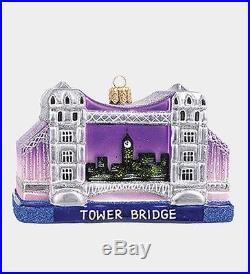 Tower Bridge London During Night Polish Glass Christmas Ornament Decoration New