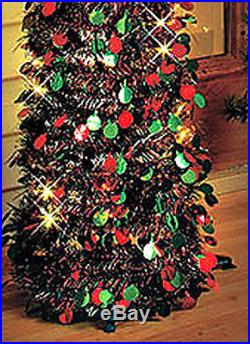 Tree Christmas Artificial Lights Pre Lit LED Xmas Holiday Decoration Home Thin