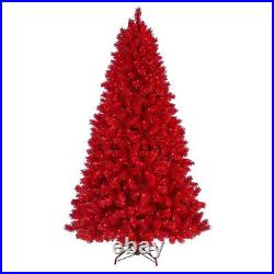 Treetopia Red 6-Ft Prelit Christmas Tree with Colored Lights & Stand (Used)