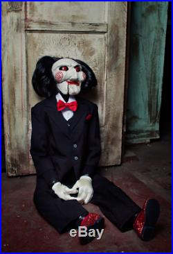 Trick or Treat SAW Billy Puppet Jigsaw Life Size Halloween Prop Decor MALG100