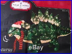 Trim a home pre-lit animated stegosaurus Christmas Decoration, New, Dinosaur