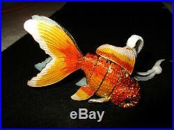 Trimsetter Cloisonne Gold Fish Ornament Dillards New Multi-Color Gorgeous with Box