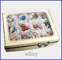 Twelve Days of Christmas Polish Mouth Blown Glass Christmas Ornament Set 12 pc