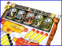 Twin Gun Dinosaur Tin Can Alley Shoot Game Toy Boys Christmas Stocking Filler